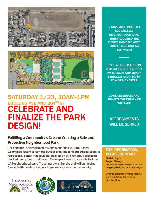 Celebrating 20-year quest to create a park on former industrial site.