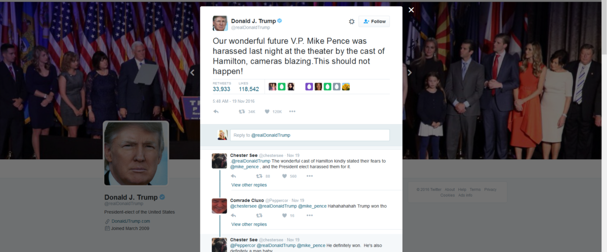 "Lessons from Trump's ""Hamilton"" tweets"